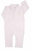 Kissy Kissy Baby Boys Party Time Stripes Sophie Giraffe Romper with Collar