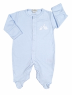 Kissy Kissy Baby Boys Pique Cottontails Easter Bunny Footie - Blue