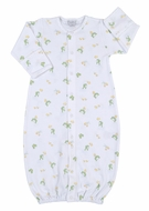 Kissy Kissy Baby Boys Pond Pals Green Frogs Print Converter Gown