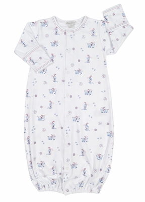 Kissy Kissy Baby Boys Pup Paw-trol Dogs Print Converter Gown