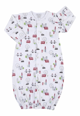 Kissy Kissy Baby Boys Red London Double Decker Bus Tour Print Converter Gown