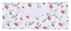 Kissy Kissy Baby Boys Red London Double Decker Bus Tour Print Receiving Blanket