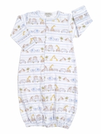 Kissy Kissy Baby Boys Safari Excursion Animals Print Convertible Gown