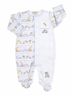 Kissy Kissy Baby Boys Safari Excursion Animals Print Footie