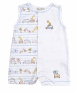 Kissy Kissy Baby Boys Safari Excursion Animals Print Sleeveless Romper Playsuit