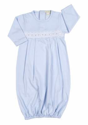 Kissy Kissy Baby Boys Summer Medley Smocked Sack Gown - Light Blue