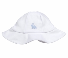 Kissy Kissy Baby Boys White Pique Cottontails Easter Bunny Sun Hat