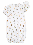 Kissy Kissy Baby Boys Winter Wonderland Forest Animals Print Converter Gown