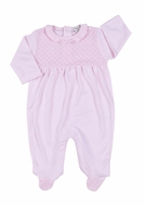 Kissy Kissy Baby Girls Blissful Footie with Ruffle - Pink