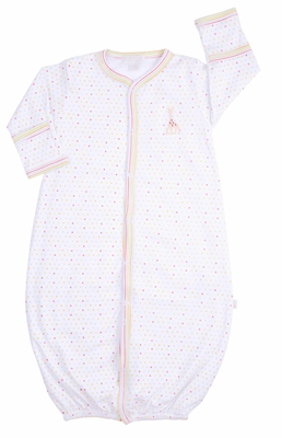 Kissy Kissy Baby Girls / Boys Party Time Polka Dots Sophie Giraffe Converter Gown