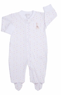 Kissy Kissy Baby Girls / Boys Party Time Polka Dots Sophie Giraffe Footie with Zipper