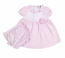 Kissy Kissy Baby Girls Breathless Pink Ruffle Dress with Diaper Cover