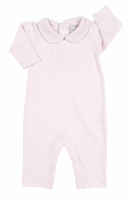 Kissy Kissy Baby Girls Honey Bear Cub Playsuit with Collar - Pink