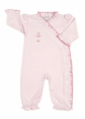 Kissy Kissy Baby Girls Pink Tiny Tutus Embroidered Romper