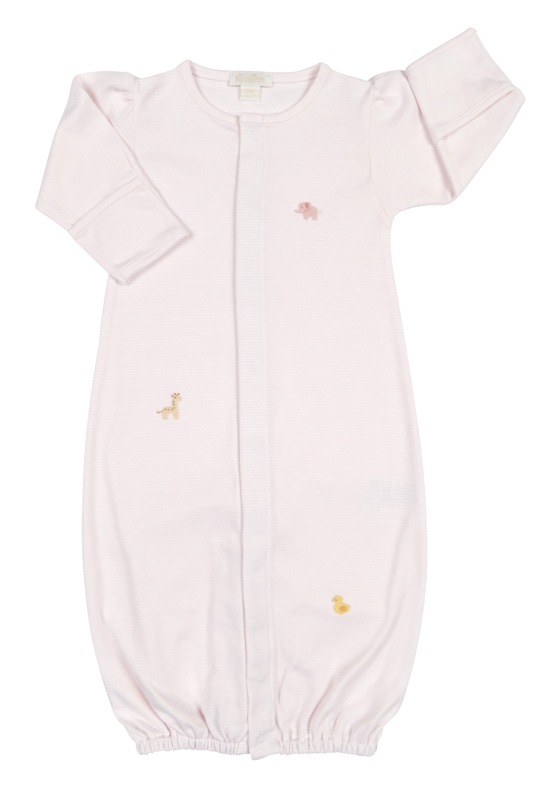Kissy Kissy Baby Girls Pink Petite Pals Animals Converter Gown