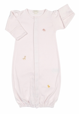 Kissy Baby Girls Pink Petite Pals Animals Converter Gown