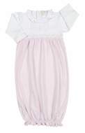 Kissy Kissy Baby Girls Pink Smocked Timeless Sack Gown