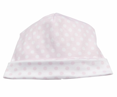 Kissy Kissy Baby Girls Pink / White Delectable Dots Reversible Hat