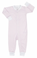 Kissy Kissy Baby Girls Pink / White Delectable Dots Zip Front Pajamas