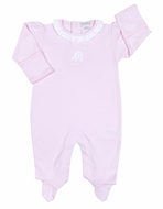 Kissy Kissy Baby Girls Ruffled Elephant Footie - Pink