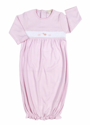 Kissy Kissy Baby Girls Smocked Baby Lamb Sack Gown - Pink