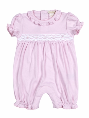 Kissy Kissy Baby Girls Summer Medley Smocked Short Playsuit - Pink