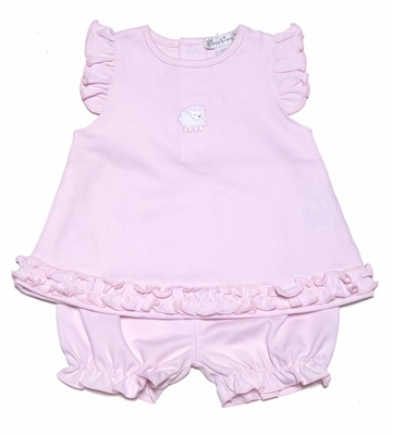 Kissy Kissy Baby Girls Sweet Pink Baby Easter Lamb Bloomers Set
