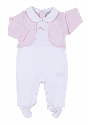 Kissy Kissy Baby Girls Take Me Home Outfit - White Magical Memories Footie with Jacket - Pink
