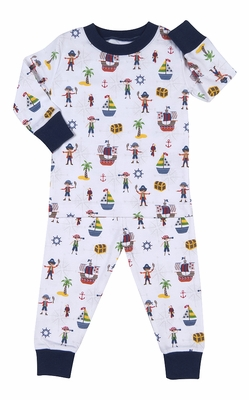 Kissy Kissy Boys Blue Pirate Treasure Buccaneers Long Pajamas