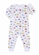 Kissy Kissy Boys Blue / Red Rush Hour Cars Print Pajamas