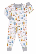 Kissy Kissy Boys Colorful Construction Trucks Print Pajamas