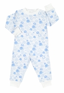 Kissy Kissy Boys / Girls Endearing Elephants Print Pajamas - Blue