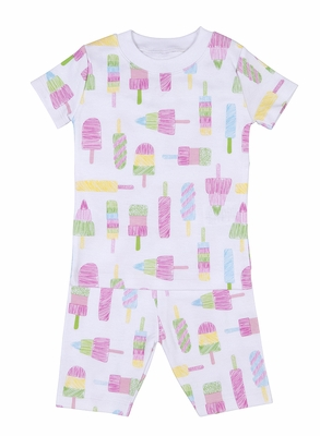 Kissy Kissy Girls Pink Summer Popsicles Print Short Pajamas