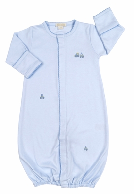 Kissy Kissy Infant Boys Blue ABC Cargo Train Converter Gown