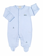 Kissy Kissy Infant Boys Blue ABC Cargo Train Footie