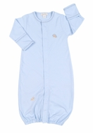 Kissy Kissy Infant Boys Blue Jungle Love Baby Lion Convertible Gown