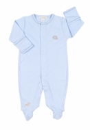 Kissy Kissy Infant Boys Blue Jungle Love Baby Lion Footie