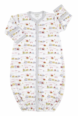 Kissy Kissy Infant Boys Red Caboose Trains Print Converter Gown