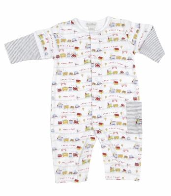 Kissy Kissy Infant Boys Red Caboose Trains Print Playsuit