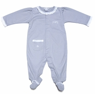 Kissy Kissy Infant Girls Baby Ritz Footie - Silver