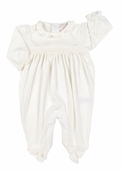 Kissy Kissy Infant Girls Fall Vines Footie with Ruffle - Ecru