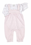 Kissy Kissy Infant Girls Nature's Nursery Overall Set - Pink