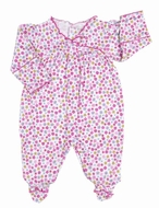Kissy Kissy Infant Girls Pink Parisian Summer Floral Footie