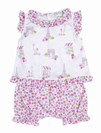 Kissy Kissy Infant Girls Pink Parisian Summer Sunsuit Bloomers Set
