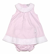 Kissy Kissy Infant Girls Pink Pique Easter Bunny - Sleeveless Dress with Bloomers