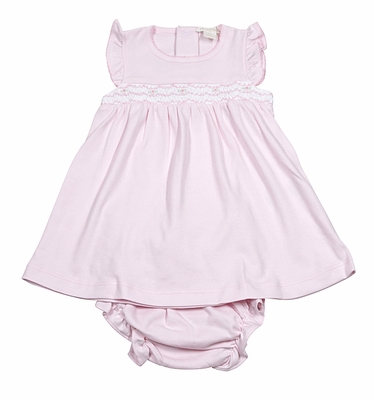 Kissy Kissy Infant Girls Pink Smocked Summer Medley Dress with Diaper Cover