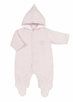 Kissy Kissy Infant Girls Pink Velour Rocking Horse Bunting Suit With