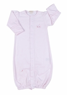 Kissy Kissy Infant Girls Sleeping Lambs Convertible Gown - Striped Pink