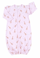 Kissy Kissy Infant Girls Sophie la Girafe Giraffes Print Convertible Gown - Pink