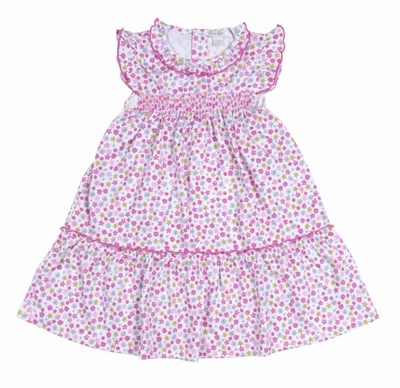 Kissy Kissy Toddler Girls Pink Parisian Summer Floral Smocked Dress